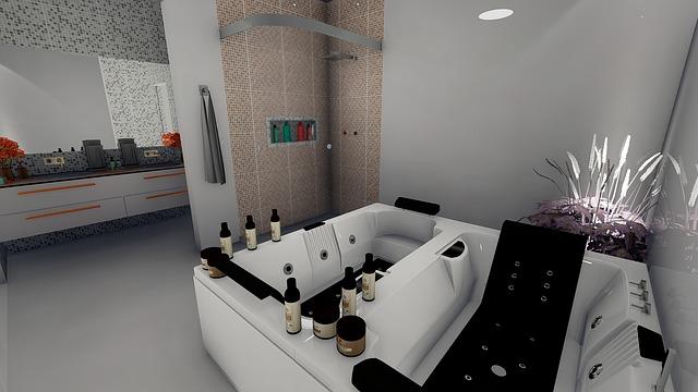 luxusní koupelna s výřivkou
