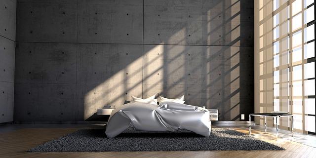 postel na koberci